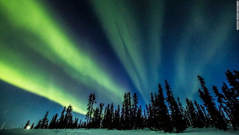 "Canada's remote Yukon, the smallest of the country's three federal territories, is one of the best places in the world to check out the northern lights, as seen here on the Eagle Plains.  <a href=""http://travelyukon.com/Explore/Northern-Lights"" target=""_blank""><em><br />More info: Travelyukon.com </a></em><a href=""http://www.cnn.com/2013/11/20/travel/best-northern-lights/index.html""><br />MORE: Best places to see the Northern Lights</a>"