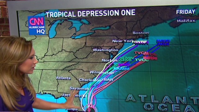 Potential hurricane aims at East Coast