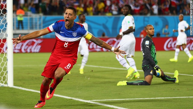 U.S. team captain Clint Dempsey's home state of Texas has been the third most-active engaging with the World Cup.