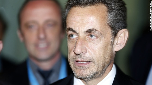 Former French president Nicolas Sarkozy on March 10, 2014, in Nice, southeastern France.