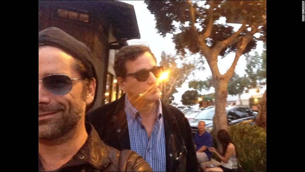 "Comedian Bob Saget, right, <a href=""http://instagram.com/p/p0ATnXTP2P/"" target=""_blank"">posted a selfie</a> with his former ""Full House"" co-star John Stamos on Saturday, June 28. ""Sunset Stamos selfie,"" he wrote on Instagram."