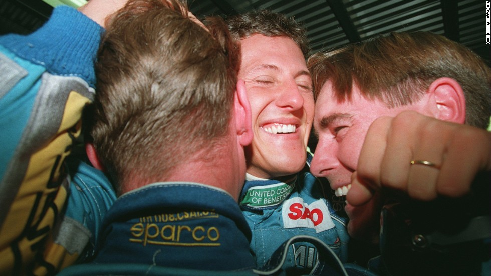 Michael Schumacher, F1's record seven-time world champion, won his first world title with Renault -- then known as as Benetton -- in 1994, and repeated the feat the following year before joining Ferrari.