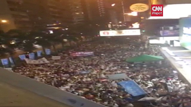 Hong Kong mass protest for democracy