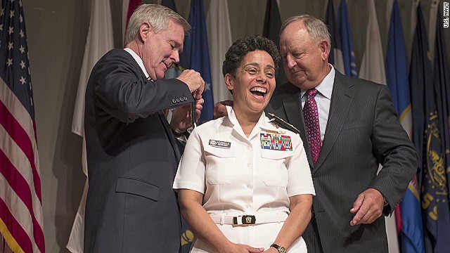 U.S. honors 1st female four-star admiral