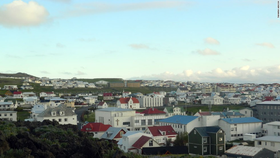 Most people displaced by the volcano's 1973 eruption returned to settle closer to Heimaey's main town of Vestmannaeyjar.