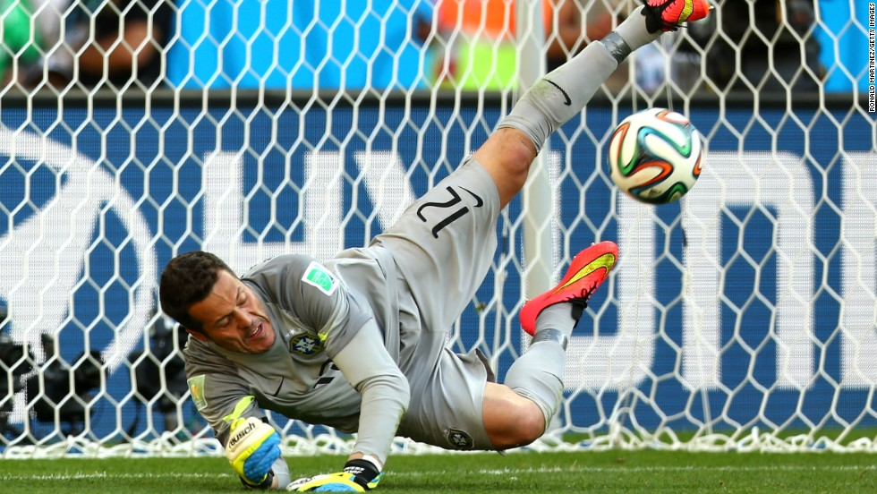 Julio Cesar was the hero for Brazil in its round of 16 game with Chile as he saved two penalties in the shootout, with the sides finishing level at 1-1 after 120 minutes.