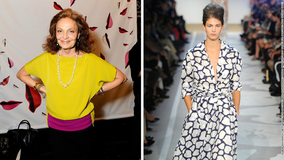 """<em>Diane von Furstenberg, wrap dress</em><br /><br />With its bold prints and slinky fabric, the DVF wrap dress symbolizes easy, timeless elegance. When Diane von Furstenberg launched it in 1974, her decision to use jersey, a low maintenance supple material in a kaleidoscope of vibrant patterns, saw her creations flying off the racks. Her success landed her on the cover of Newsweek, who dubbed von Furstenberg """"the most marketable woman since Coco Chanel.<br /><br />""""A DVF wrap dress is something you can throw into a suitcase and then just shake it out when you need it,"""" says fashion curator Oriole Cullen. """"It's appropriate for lots of different occasions, and it made women's lives easier because there was no need for pressing and making sure that it went straight to your body from the dry cleaner's."""""""