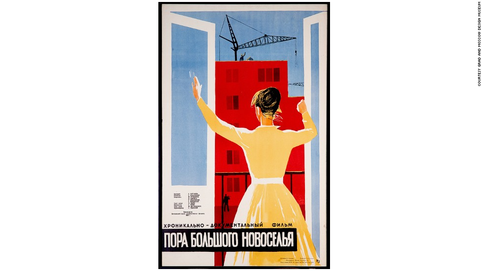 "<strong>""It's Time for a Grand Housewarming,"" poster for a 1959 Soviet documentary on new urban reforms. </strong><br /><br />The era of de-Stalinization in 1950s Soviet Russia was dominated by sweeping political reforms that put an end to forced labor and marked a split from the cult of personality that surrounded Stalin during his 30-year reign.<br /><br />But there was a more subtle cultural shift too. A new, characterful style of design emerged -- typified by futuristic consumer goods like fridges, scooters and vacuum cleaners. <br /><br />Fueled by a desire to match the quality of life enjoyed by their U.S. rivals, the then Soviet leader Nikita Khruschev built huge numbers of standardized apartment blocks or ""Khrushchyovkas"" across the USSR -- while Soviet designers raced to come up with goods to fill them.<br /><br />Today these objects offer a colorful glimpse into daily life behind the Iron Curtain..."