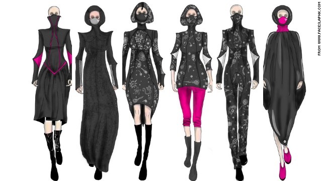 Face slap designs clothes incorporating face masks