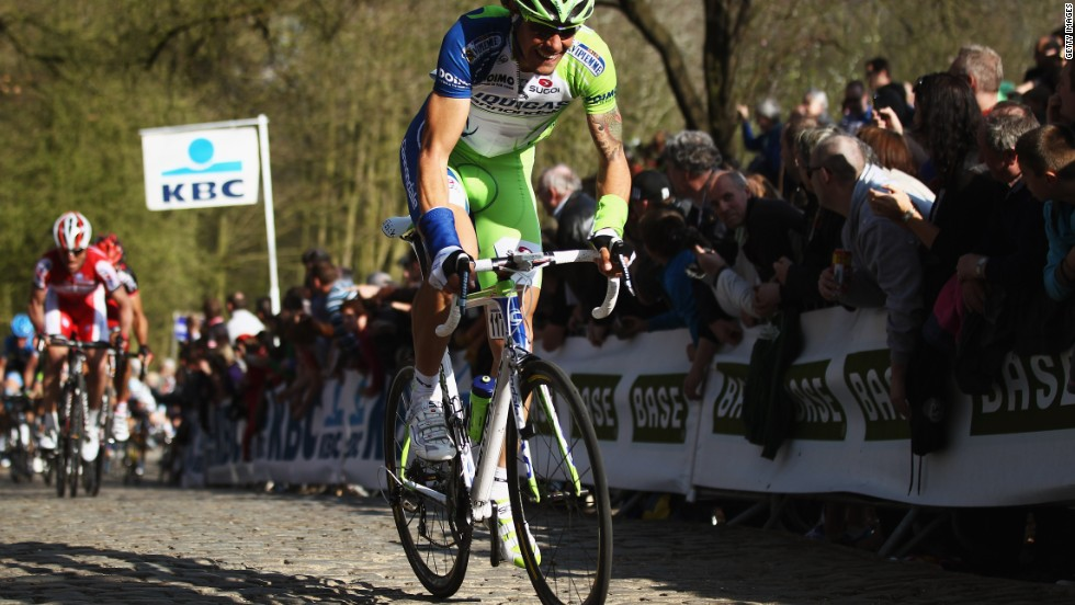 Cycling is a way of life in Flanders, which hosts regular events that take in routes such as the thigh-stinging cobbled climb up Kemmelberg -- a hill topped by a French war memorial.