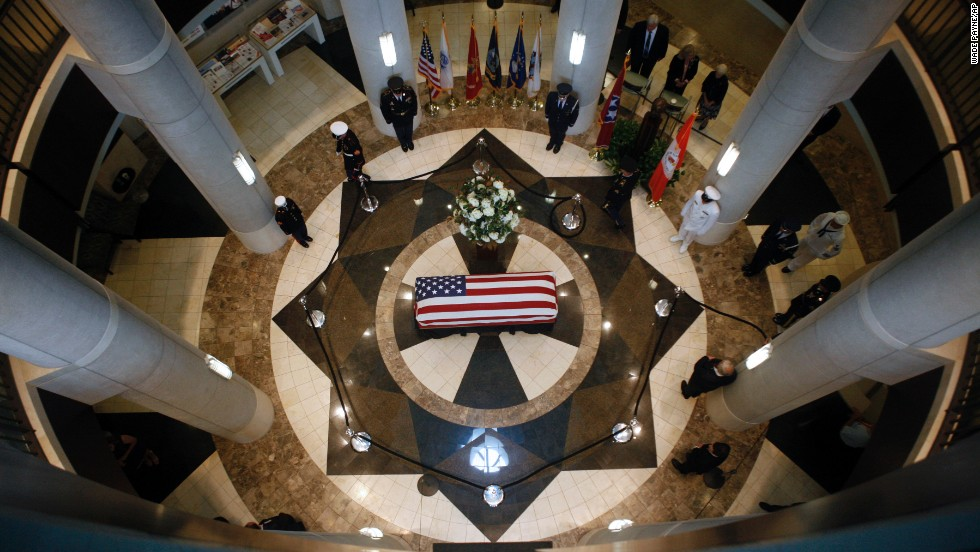 """The body of former U.S. Sen. Howard Baker lies in state Monday, June 30, in Knoxville, Tennessee. Baker died June 26 at the age of 88. The Tennessee Republican <a href=""""http://www.cnn.com/2014/06/26/politics/howard-baker-died/index.html"""">made his political mark</a> over four decades, serving as majority leader and once running for president."""
