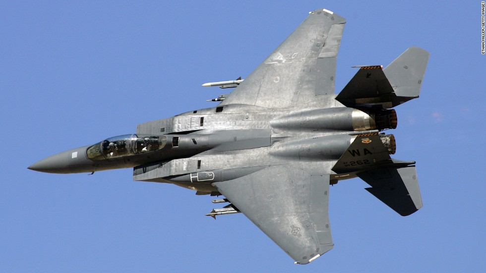 An F-15E Strike Eagle was designed for long-range, high-speed interdiction without relying on escort or electronic warfare aircraft. It was derived from the F-15 Eagle, which was developed to enhance U.S. air superiority during the Vietnam War.