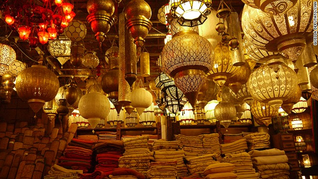 A Marrakech lamp bazaar