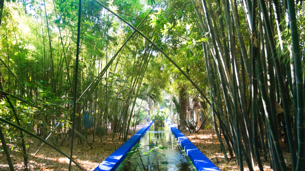 Created by French artist Jacques Majorelle, the Jardin Majorelle was later owned by French fashion designer Yves Saint Laurent.