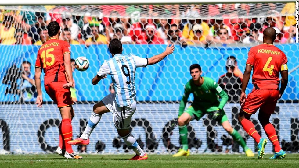 Higuain scores for Argentina.