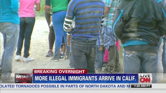 Immigrants arrive in California