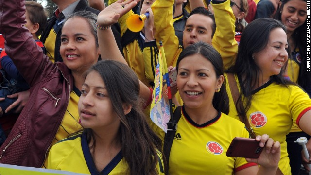 Thousand packed the streets of Bogota to welcome home the Colombian team after its exit from the World Cup in the quarterfinals.
