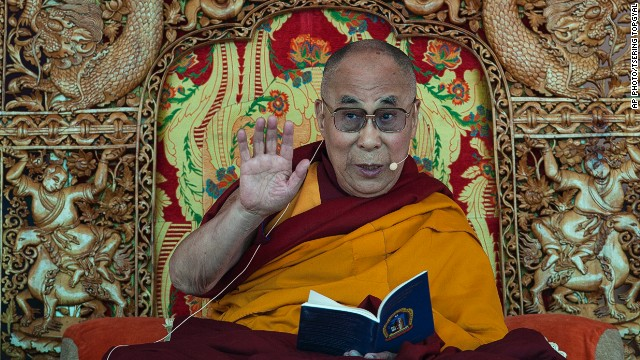 Tibetan spiritual leader the Dalai Lama teaches the Buddhist faithful near Leh, India, on his 79th birthday.
