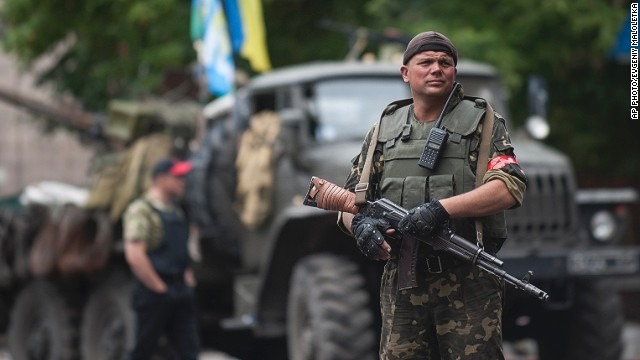 Ukrainian forces in control of Slovyansk
