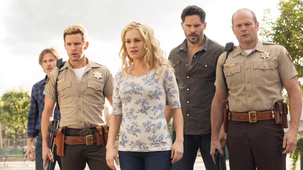 """When """"True Blood"""" met its true death with its series finale in August, it had the nerve to drag one of its central characters with it. (This person may or may not be pictured.) Fans were divided on the ending."""