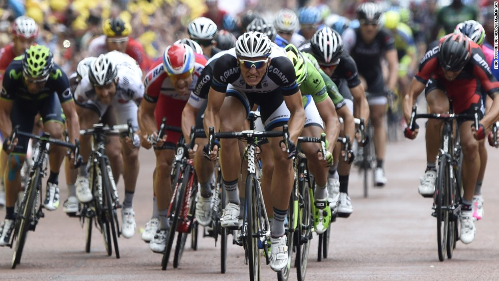 Germany's Kittel sprints to his second stage win of the Tour. in commanding style.