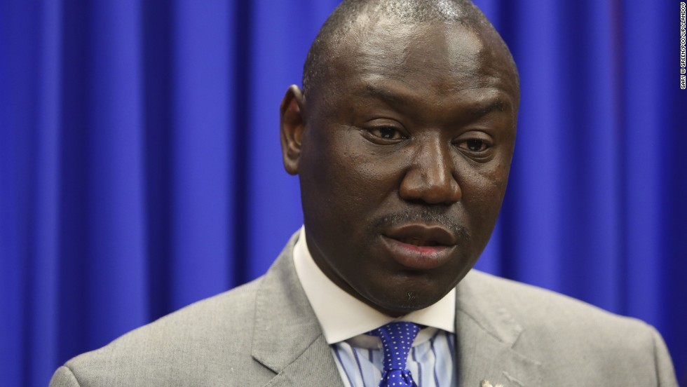 Attorney Benjamin Crump represented Trayvon Martin's parents. He has subsequently represented the family of Michael Brown, who was killed by a police officer in August, and the family of Tamir Rice, a 12-year-old boy who was shot by police in November.