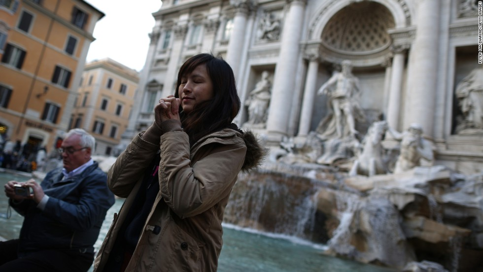 """<strong>4. Rome. </strong>Trevi Fountain was a worthy co-star in """"Roman Holiday,"""" the first American film to be shot entirely in Italy. From the Spanish Steps to the Pantheon, couples today can still follow in the footsteps of Audrey Hepburn and Gregory Peck"""