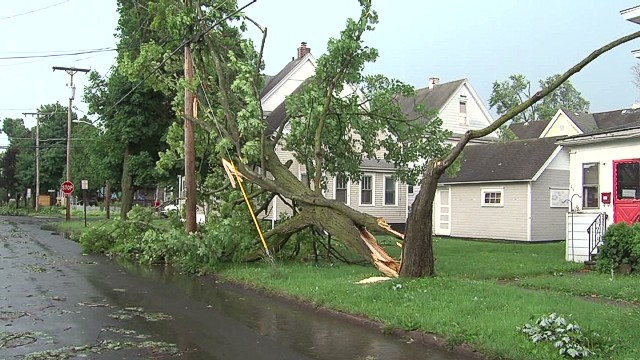 Severe weather hits Syracuse