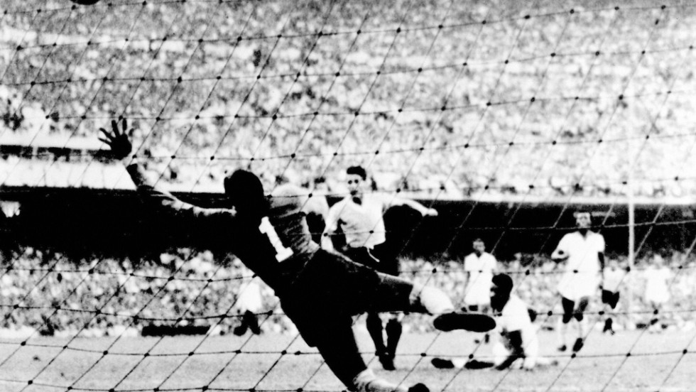 "<strong>Brazil 1-2 Uruguay (1950):</strong> It's not the first time Brazil has suffered such disappointment hosting football's biggest tournament. Brazilian novelist Nelson Rodrigues wrote: ""Our catastrophe, our Hiroshima was the defeat by Uruguay in 1950."" While perhaps overstating things, it was a huge shock. <a href=""/2013/06/14/sport/football/brazil-confederations-cup-neymar-pele-football/index.html"" target=""_blank"">In a round-robin format World Cup, Brazil took a 1-0 lead in the deciding match and appeared to be cruising to victory only to lose and leave a nation in mourning.</a>"