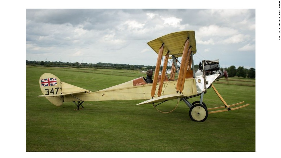"The BE2c was the very first plane to receive flight approval, certified as such in March 1912. Incredibly, a radiator was mounted in the pilots line of vision, despite being powered by a water cooled engine. Yet the Triplane is the hardest to fly, with a view that's like ""looking through a Venetian blind at an angle,"" says Piper. ""You have to land into the wind otherwise they will ""ground loop"" - a bit like a race car spinning!"""