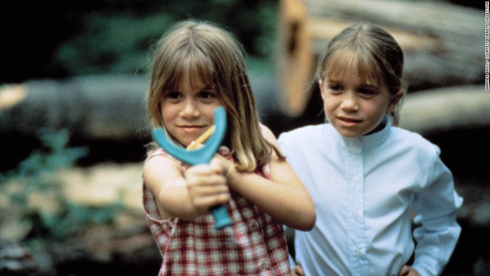 "The Olsen twins (Ashley, left, Mary-Kate, right) play the old switcheroo in 1995's ""It Takes Two."" Obviously camp encourages creativity and role playing."