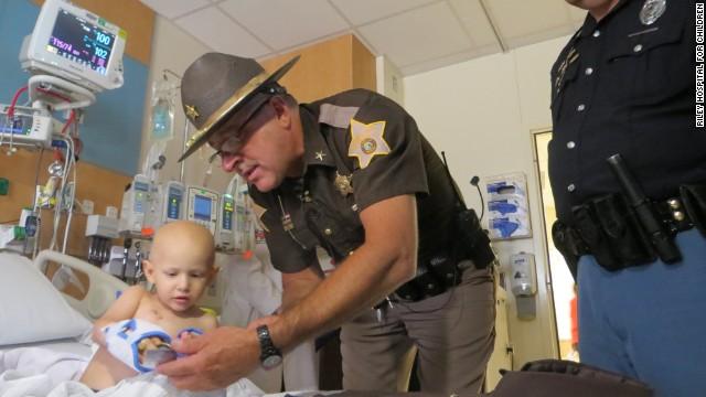 Three-year-old Wyatt Schmaltz, an Indiana boy with stage 4 cancer, was named a sheriff's deputy Wednesday.