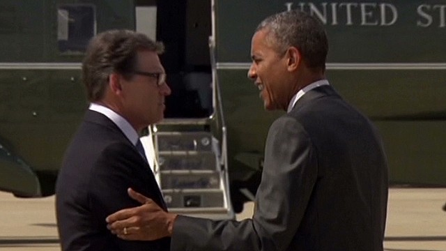 Obama: I had a 'good meeting' with Perry