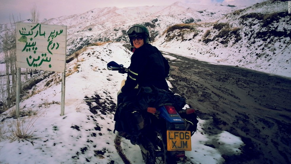 Pryce's route took her over the remote Alborz Mountains.