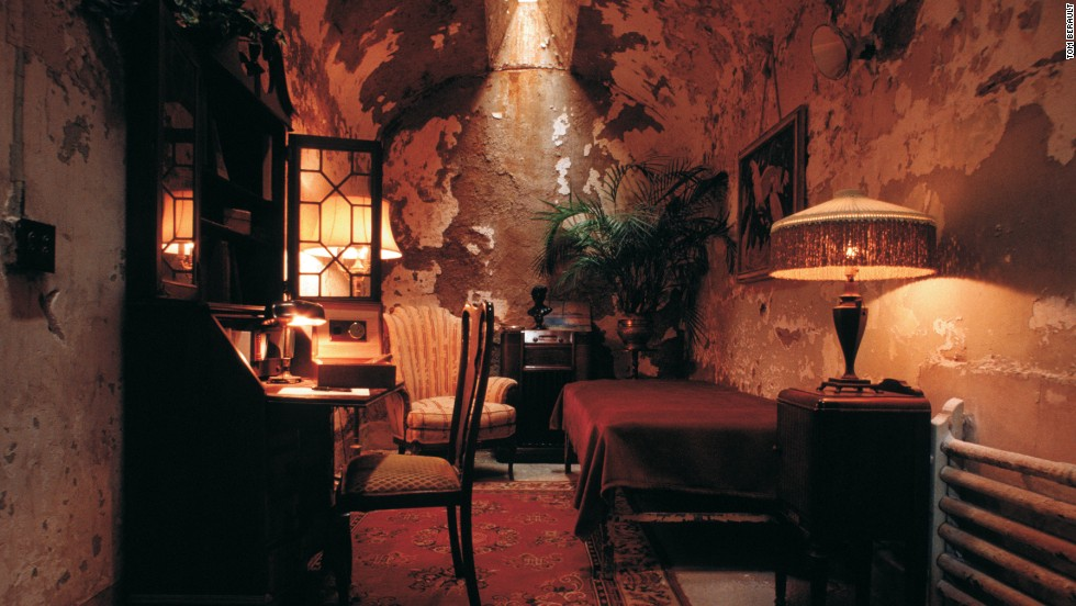 Al Capone spent eight months in Philadelphia's Eastern State Penitentiary in 1929.  During this, his first incarceration, he was treated much differently than the general population, living in a cell furnished with luxurious amenities.