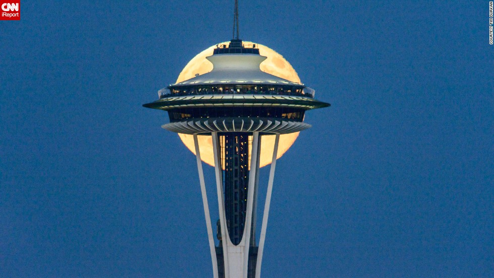 It took photographer Tim Durkan a few stretches of lonely nights to get the perfect shot of the supermoon in Seattle in 2014.