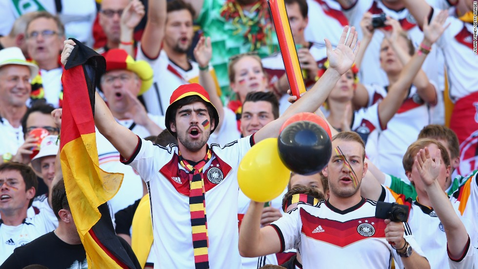 Germany fans enjoy the atmosphere at the Maracana.