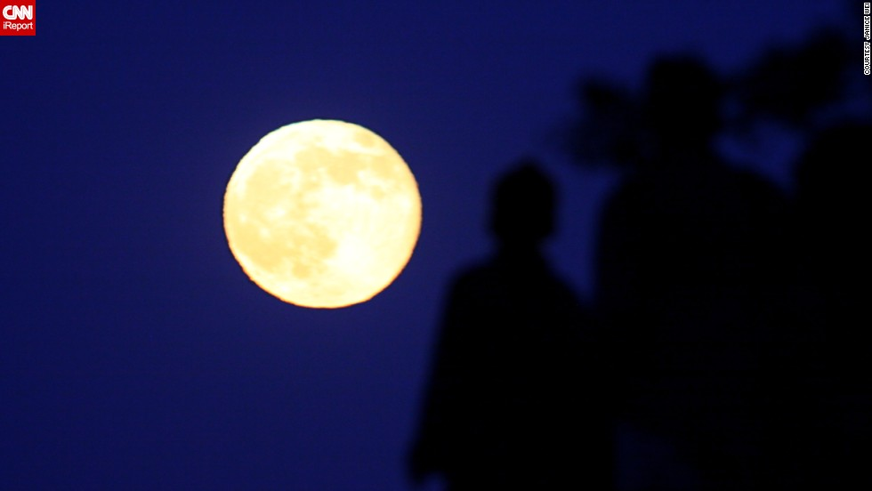 "<a href=""http://ireport.cnn.com/docs/DOC-1152101"">Janice Wei </a>photographed the supermoon from the San Francisco Bay Area on July 12. ""I love to capture the moon. It's very beautiful and powerful when it's full,"" she said."