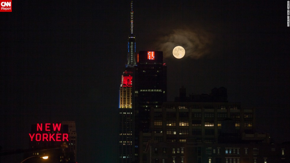 "Mike Chiodo, who professionally goes by <a href=""http://ireport.cnn.com/docs/DOC-1152464"">Mikiodo</a>, loved photographing the supermoon so much, he did it two nights in a row. ""Living in New York City, I am always craving some nature; I don't get enough. So I often look to the evening and nighttime skies to get my fix,"" he said."
