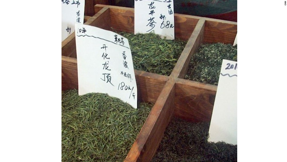 "China grows some of the world's finest tea. If you can't <a href=""http://edition.cnn.com/2014/06/22/travel/china-tea-travel/index.html?hpt=hp_c5"">make it to the source</a>, Shanghai's Laoximen Tea Plaza houses a variety of specialty tea shops."