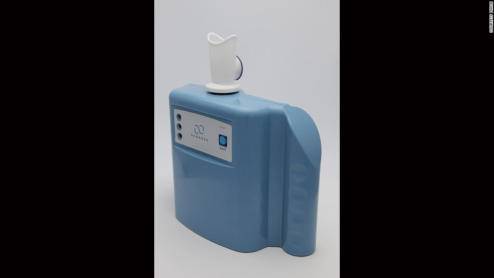 "The Aeonose, from Dutch company <a href=""http://www.enose.nl/"" target=""_blank"">eNose</a>, is being developed to provide near-instant analysis of breath for TB and lung cancer."