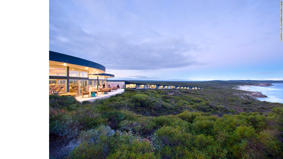 There's no A/C needed at T+L's No. 4 hotel, the Southern Ocean Lodge on Australia's Kangaroo Island, where the architecture compliments the natural weather patterns on the island.