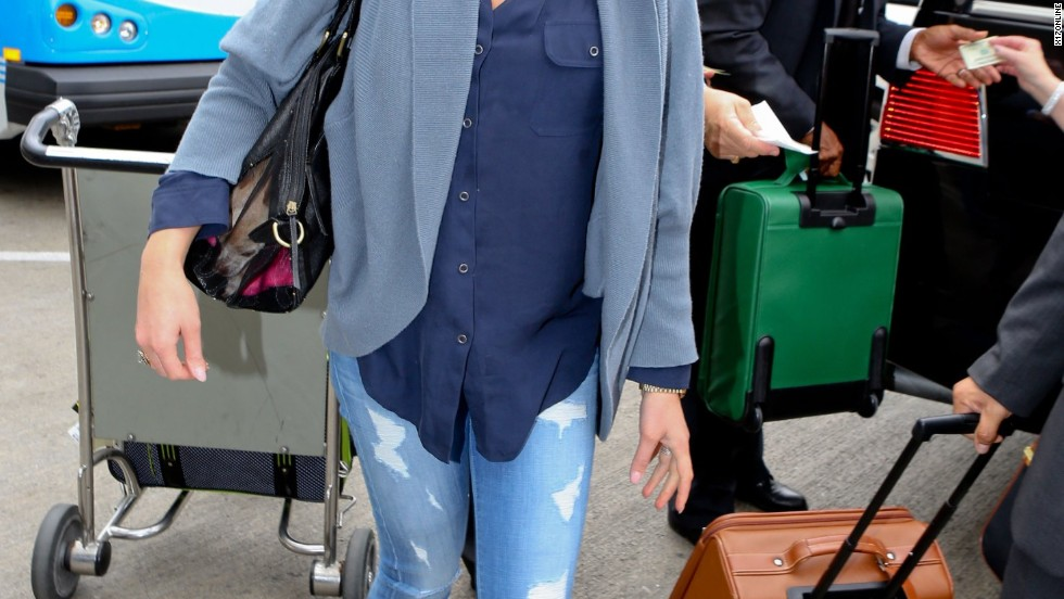 Katherine Heigl makes her exit from Los Angeles on July 14.