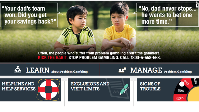 World cup singapore gambling ad