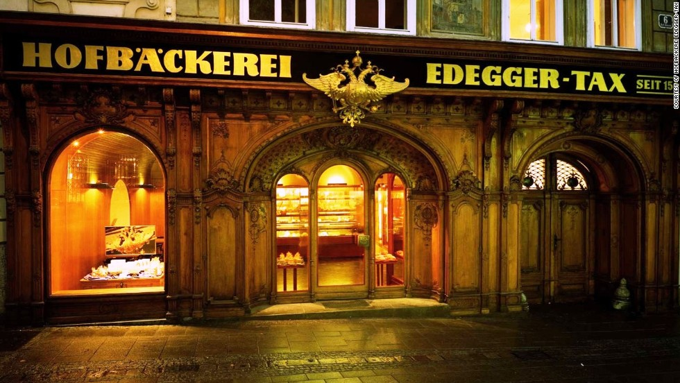 The Hofbackerei Edegger-Tax has been an institution in the Austrian city of Graz since the 1880s. The imperial insignia over its doorway attests its popularity with local royalty.