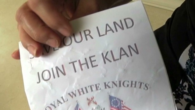 KKK uses fliers and candy to recruit