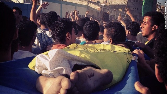 Four boys, aged 9 to 11, were killed on Gaza's beach this afternoon in an Israeli strike. Muhammed, Ismail, Zakaria and 'Ahed, all cousins from the extended Bakr family.