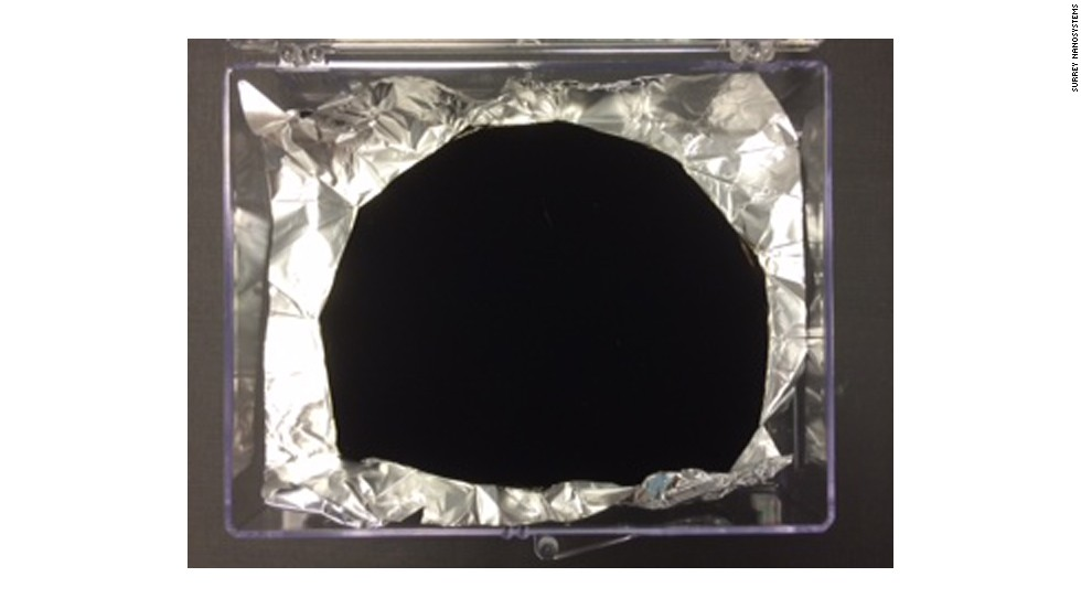 A British nanotech company has created what it says is the world's darkest material.