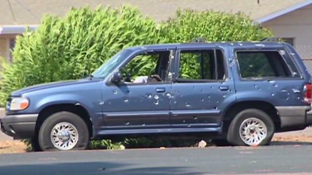 Chase ends after hail of bullets, 3 dead