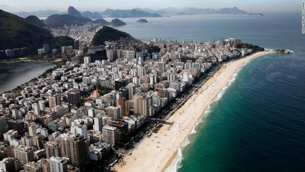 Brazil's World Cup crowds have gone home, and the locals have yet to hit the beaches of Rio de Janeiro en masse. With temperatures in the 70s, Rio's beaches offer a refreshing change from some of the sweltering summer highs in North America.